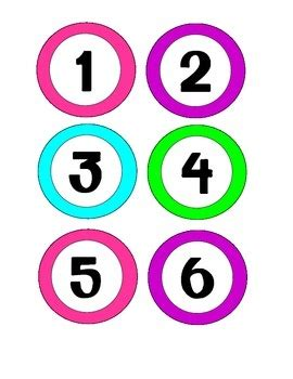 printable numbers on circles number clipart colored pencil and in color number