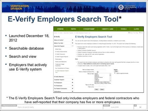 E Verify Search Form I 9 Compliance E Verify Webinar
