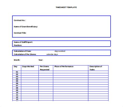 27 Ms Word Timesheet Templates Free Download Free Premium Templates Monthly Timesheet Template Word