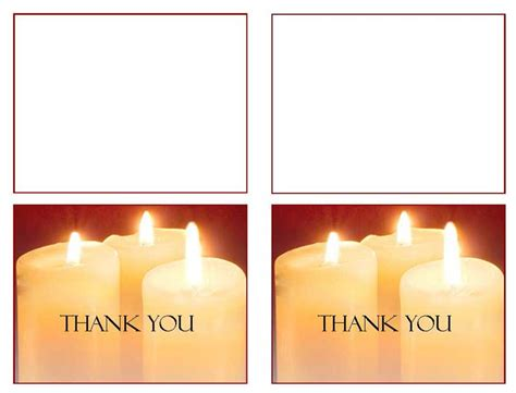 candle card template funeral programs funeral thank you card glowing memories