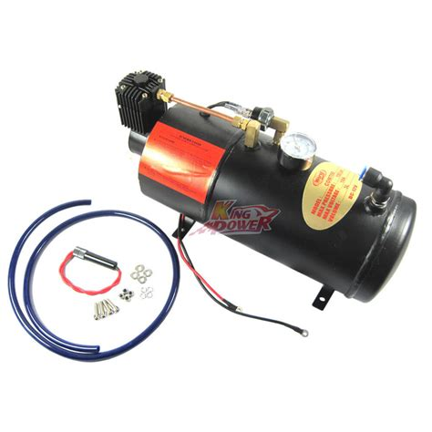 new air compressor with 3 liter tank for air horn truck rv 150 psi ebay