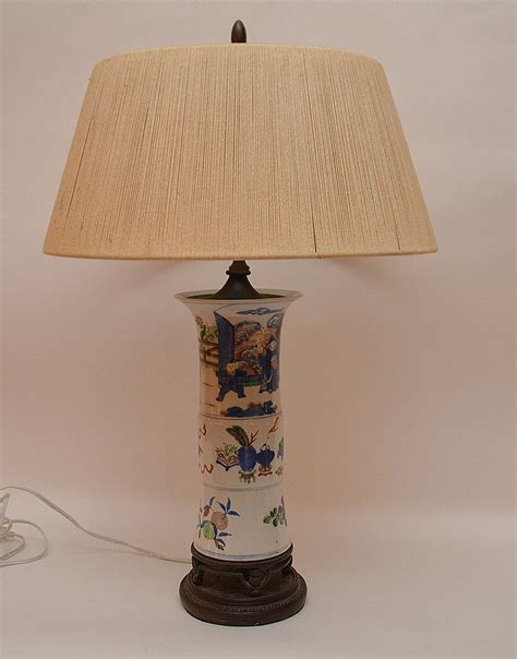 porcelain l with string shade