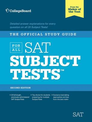 The Official Study Guide For All Sat Subject Tests 2nd Ed