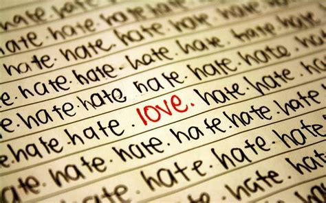 wallpaper hate love wallpaper