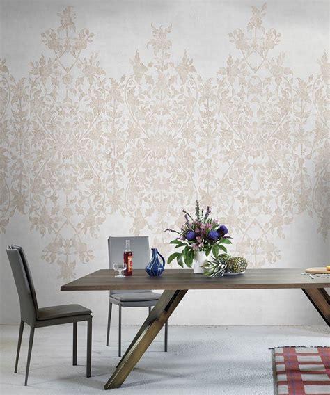 decorar comedor con papel pintado mural papel pintado ornamental piconto interiorismo
