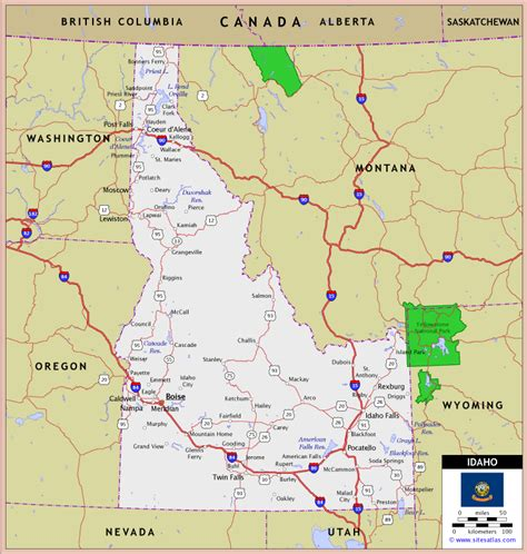 maps of idaho map of idaho travelsfinders