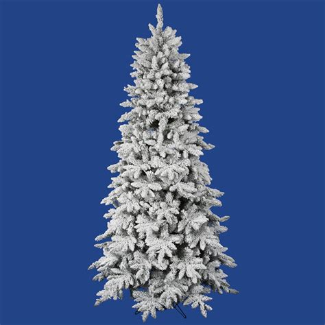 6 5 flocked olympia fir artificial christmas tree ebay