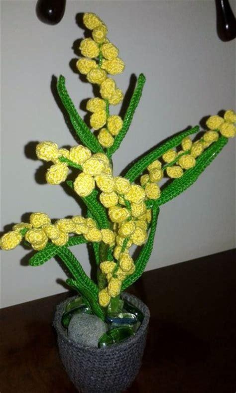 mimosa vaso mimosa vaso pianta all uncinetto idea regalo unico e