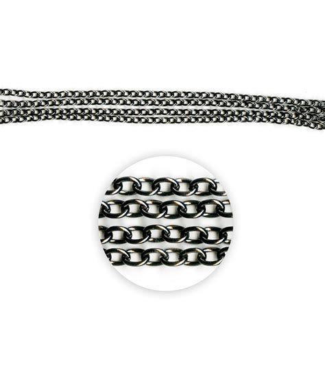 blue moon chain blue moon metal chain 7x5mm oval cable black