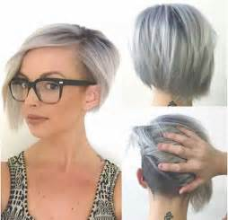 colored undercut 14 hairstyles for gray hair hairstyles 2016