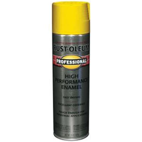 home depot safety yellow paint rust oleum professional 15 oz gloss safety yellow