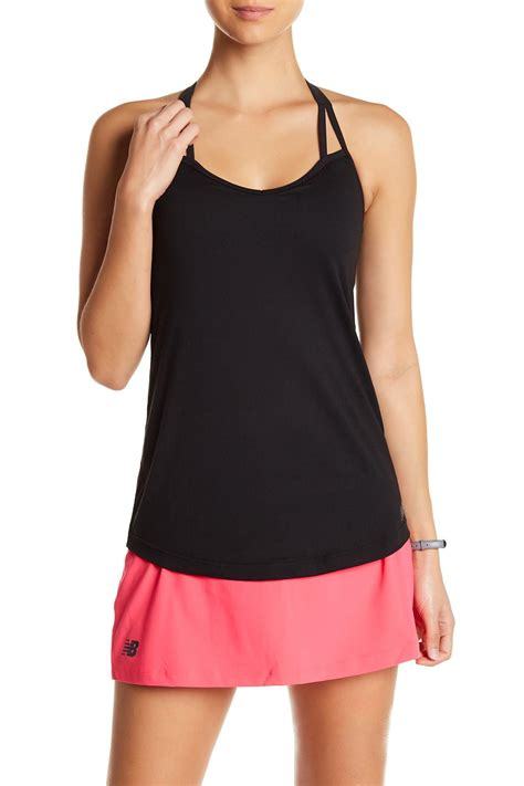 Tank Dress With Built In Bra by Lyst New Balance Strappy Built In Bra Tank Top In Black