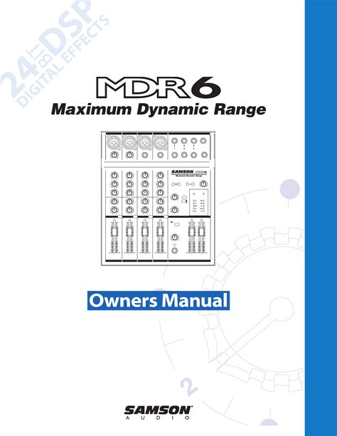 Mixer Samson Mdr6 samson mixer mdr6 user guide manualsonline