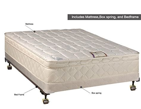 full bed box spring continental sleep 10 quot pillowtop fully assembled othopedic