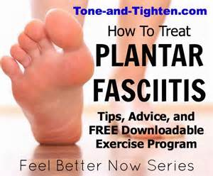 feel better now series how to treat plantar fasciitis