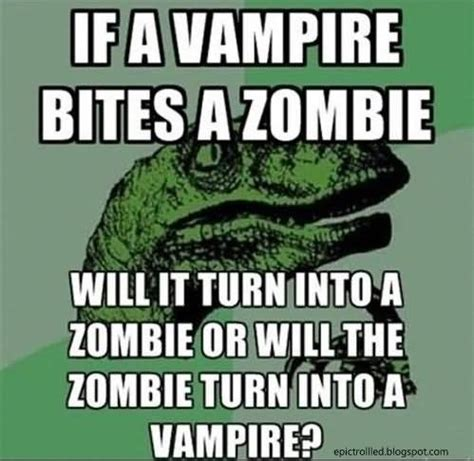 Funny Zombie Memes - funny meme if a vire bites a zombie image