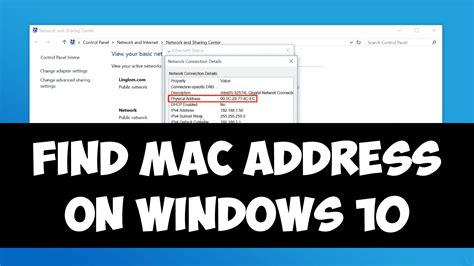 Ip Mac Address Lookup Find Mac Address On Windows 10
