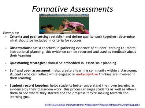 exle of formative assessment direct methods for closure and evaluation