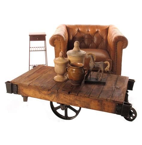 Railroad Cart Coffee Table Industrial Loft Reclaimed Railroad Cart Coffee Tables Kathy Kuo Home
