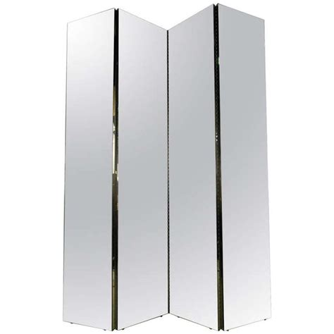four panel mirrored room divider mirror floor floor