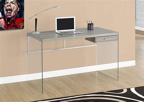glass laptop desk cool glass computer desks for home office minimalist