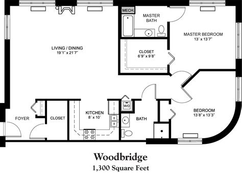1300 Sq Ft Apartment Floor Plan | house plans 1800 square foot 1300 square foot house floor