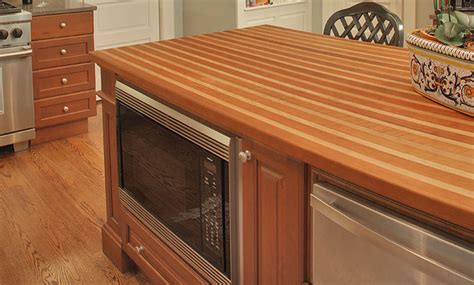 cherry and beech stripe wood countertop by grothouse