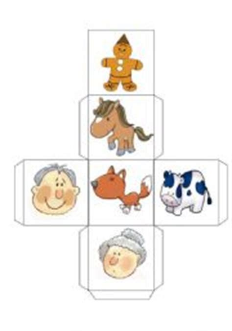 printable gingerbread man story characters the gingerbread man story and dice