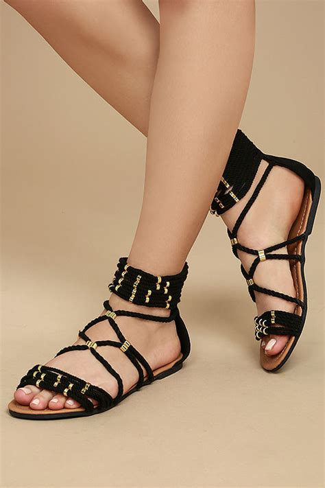 Sandal Fladeo Pria 3 black sandals black gladiator sandals vegan sandals 26 00