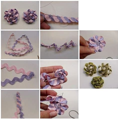 diy ribbon projects how to make beautiful ribbon flowers step by step diy