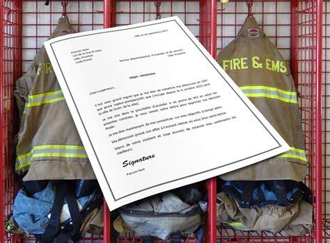 Exemple De Lettre De Demission De Sapeur Pompier Volontaire Modele Lettre De Demission Pompier Volontaire Document