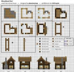 woodland hut small minecraft house blueprint by