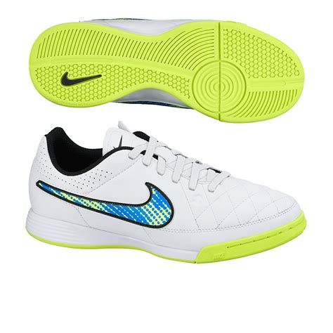 nike youth indoor soccer shoes nike youth tiempo genio ic indoor soccer shoes white soar