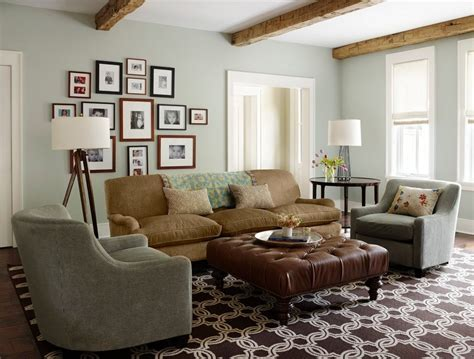 Leather Ottoman Coffee Living Room Transitional With Mix Living Rooms With Ottomans