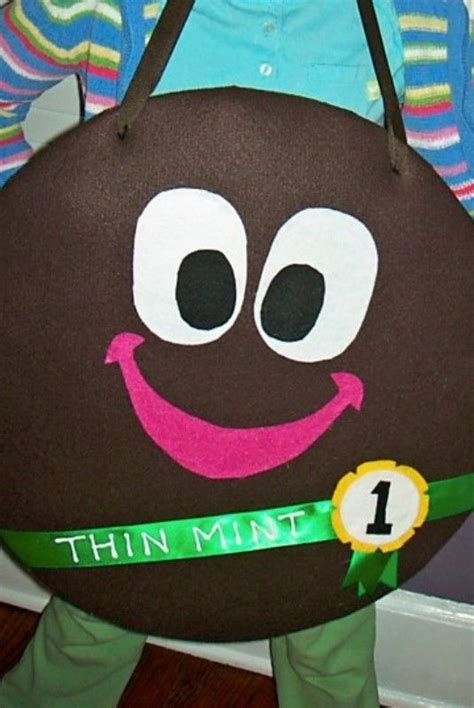 coree themes girl scouts thin mint costume for cookie sales felt foam core and