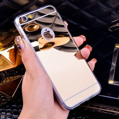 Luxury Mirror Bumper Silikon Back Soft Cover Iphone 7 7plus luxus spiegel galvanik soft clear tpu f 228 lle f 252 r iphone 6 6