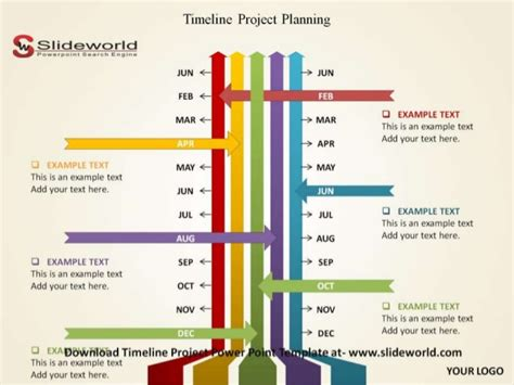 Timeline Project Powerpoint Template Project Plan Timeline Powerpoint Template