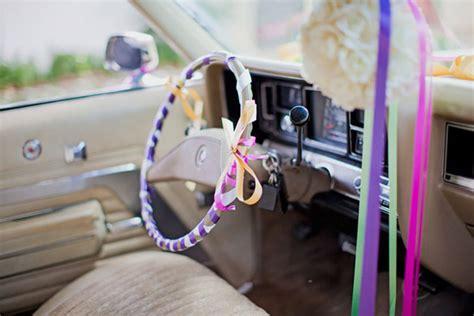 decorar interior auto adornos para el coche de los novios bodas