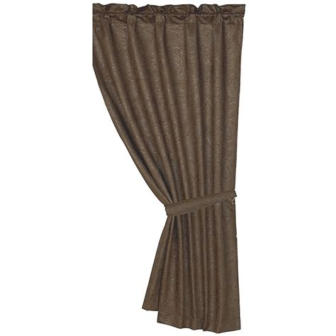 faux leather curtain panels caldwell faux tooled leather curtain panel