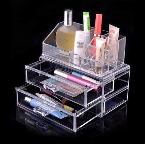 new cosmetic organizer drawers clear acrylic jewellery box