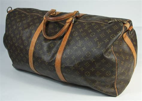 louis vuitton vintage monogram large duffle carry  bag