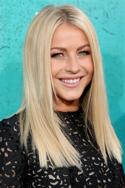 hair cut in medium size strait hairs julianne hough blonde medium straight hairstyle popular
