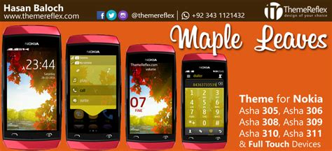 nokia asha 305 god themes maple leaves theme for nokia asha 305 asha 306 asha 308