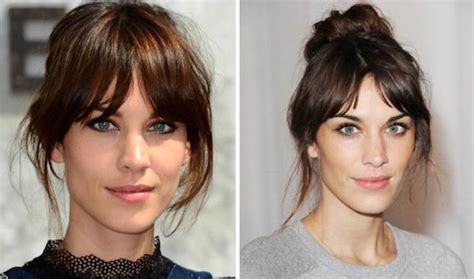 15 ways to wear bangs while they grow out brit co 1000 images about hair on pinterest alexa chung bangs