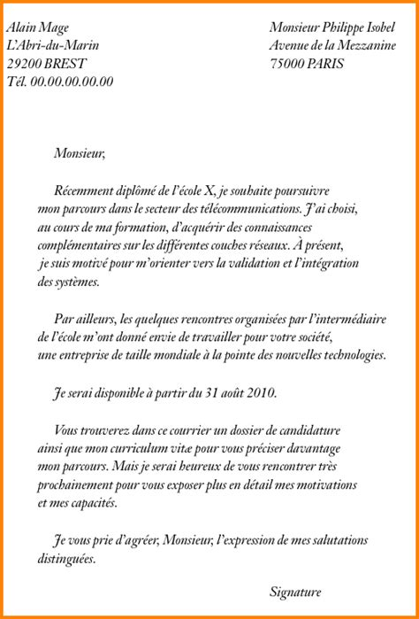 Ecole Hoteliere Lettre De Motivation 5 lettre de motivation 233 cole de commerce format lettre