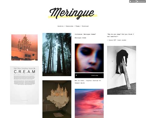 themes for tumblr simple 45 free grid based tumblr themes inspirationfeed
