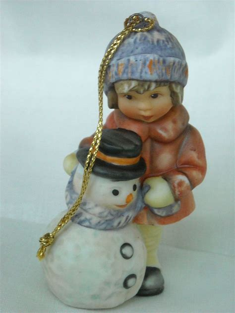 goebel berta hummel porcelain christmas ornament girl with