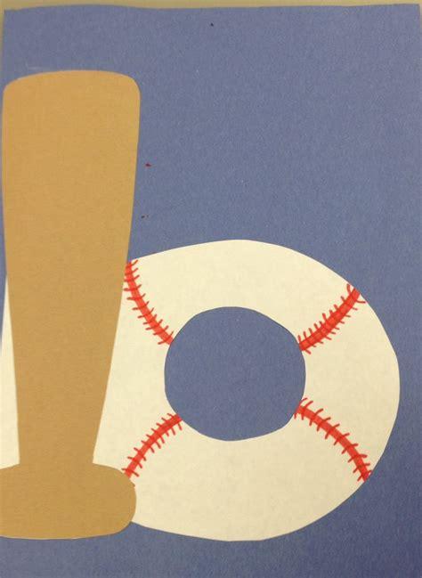 baseball crafts for b for baseball craft preschool letter crafts