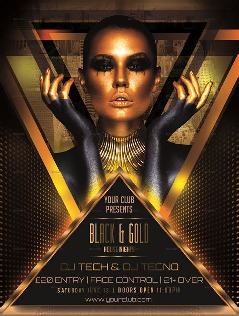 Black Gold Flyer Template By Designroom1229 Graphicriver Gold Flyer Template
