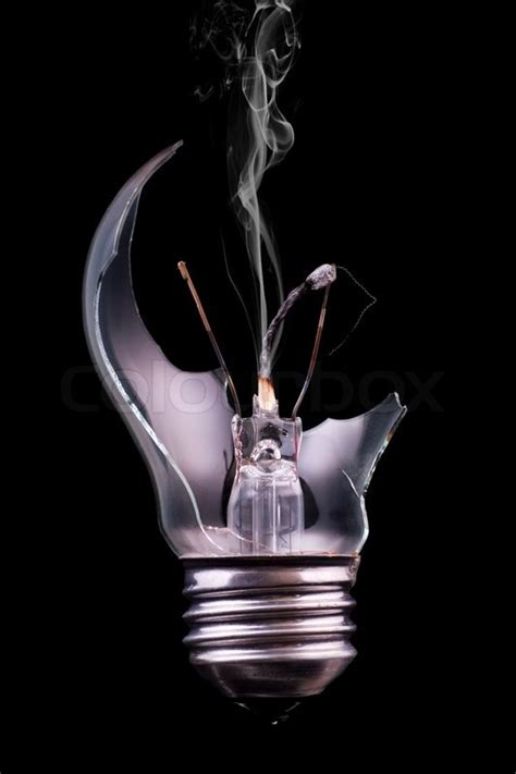 Busted Light by A Broken Lightbulb With A Stock Photo Colourbox